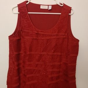 Chico's patterned red top